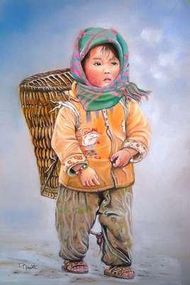 Fillette du Népal