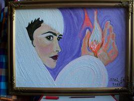 """"""" L'oiseau de feu ... """"  ( insp. by Lily Collins  )"""