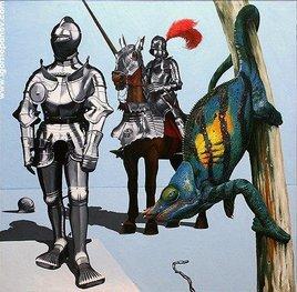 chevaliers et dragon