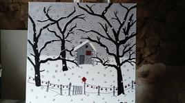 Maisonnette sous la neige par S.B.