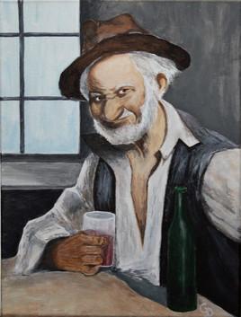 287 - Le petit vieux au verre