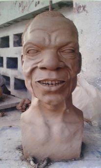 Sculpture, d'un vieux papa