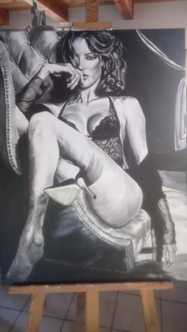 femme au fauteuil