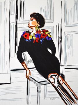 Robe Christian Dior de 1986
