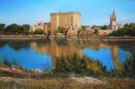 Peinture LE CHATEAU DE TARASCON