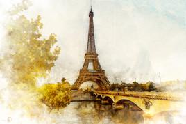 La tour eiffeil en automne