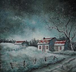 Nuit d'hiver à la campagne