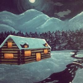 Cabane en montagne.