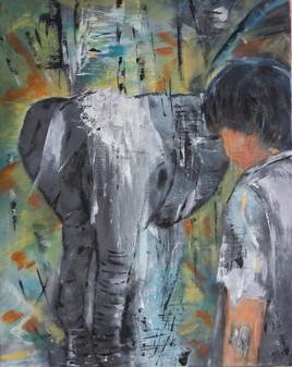 L'éléphant et l'enfant