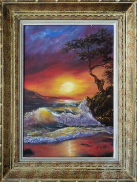 soleil sur les vagues