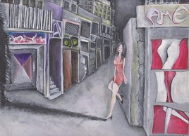 Woman in the street