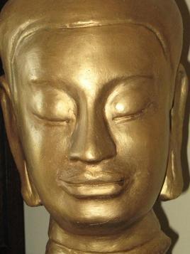 buste de bouddha style khmer