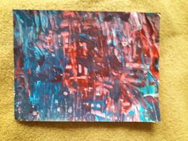 Dessin abstrait acrylique format A4