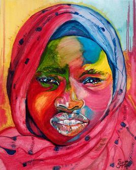 Tuareg Portrait Painting par EFART: Elkechai Fayçal ART