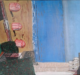 Vue sur la mer à Trouville