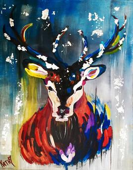Chevreuil Argenté Coloré / Silver Deer Colorful