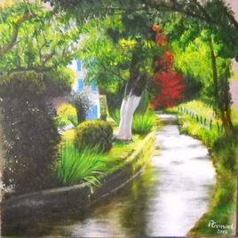 Peinture Un petit coin de paradis