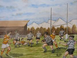 Une partie de rugby