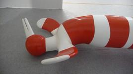 Pascale Fournier - Grand Envol rayé rouge et blanc - 2009
