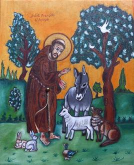 Saint François bénit les animaux