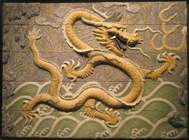 Dragón chino. med: 110x80x5 cm.