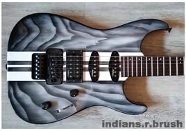 guitar airbrush ... indians.r.brush...Nimes