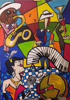 l'orchestre de jazz 70 cm x 50 cm