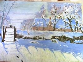 La pie (d'après Claude Monet)