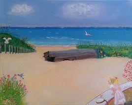 Solène à la plage