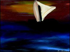 Peinture Le petit voilier