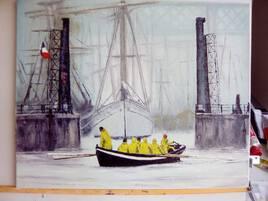 la sortie du port