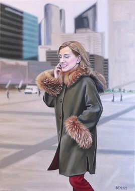 Portrait de femme à la cape