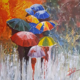 La pluie de toute les couleurs