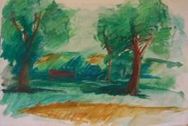 Au Parc de Sceaux, vers Anthony, 1988