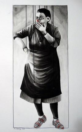 """Marionnette """"femme en pantoufle"""""""