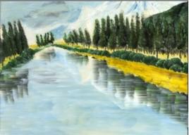 arbres au bord de l'eau
