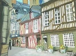 Vieux Rennes, rue de la Psalette