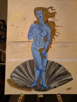 Ma Vénus en couleurs négatives 80 cm x 60 cm