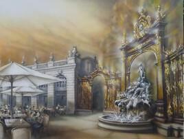 Fin d'après midi devant la fontaine d'Amphitrite