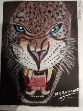 Tigre en colère pastel