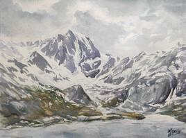 Le lac d'Ilhéou et le pic de Courounalas (2566 m)