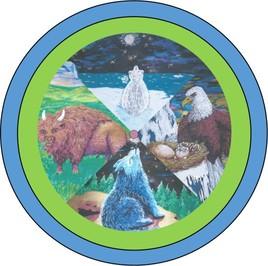 Roue de médecine Ojibwes des 7 directions