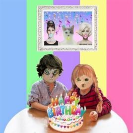 l'anniversaire de Grisou et Miou :)