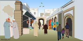 Marché à Essaouira-Maroc