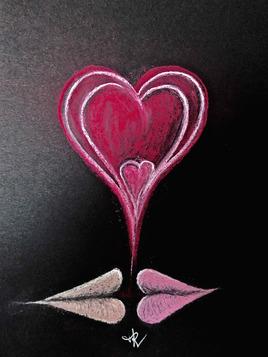 Dessin Baiser de la St Valentin / Drawing A kiss for the St Valentine's day