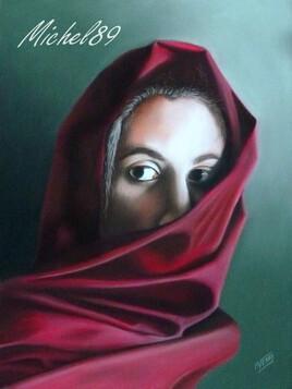 Femme au voile rouge