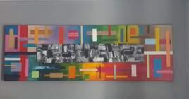 Tableau moderne à la peinture acrylique pour la décoration, peinture d'art contemporain sur toile