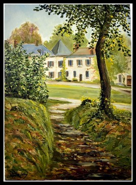 Face au château du merle blanc ,Concours de peinture a Avrainville 2011