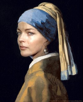 Romy revisite La Jeune fille à la perle de Vermeer..