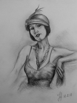 """Jeune femme """"Belle époque"""""""